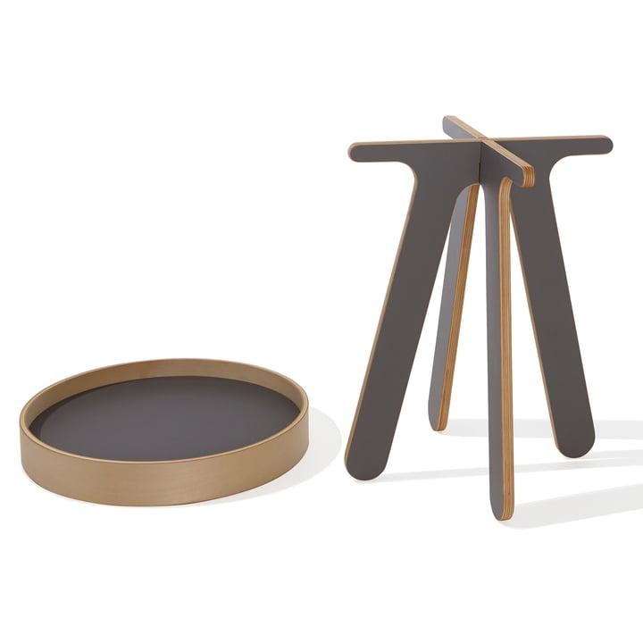 Müller Möbelwerkstätten - Valet tray table high, anthracite