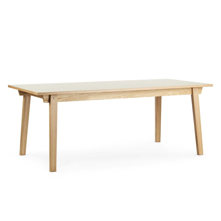 Normann Copenhagen - Slice table linoleum 84 x 160 cm, cream