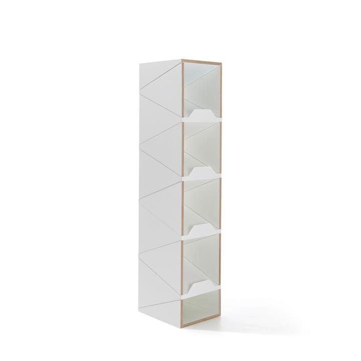 Müller Möbelwerkstätten - Shustack shoe cabinet Eight, white / white