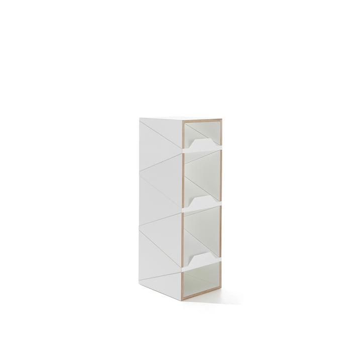 Müller Möbelwerkstätten - Shustack shoe cabinet Five, white / white
