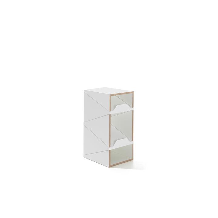 Müller Möbelwerkstätten - Shustack shoe cabinet Three, white / white