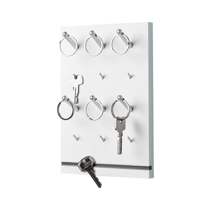 emform - Pin key rack, white