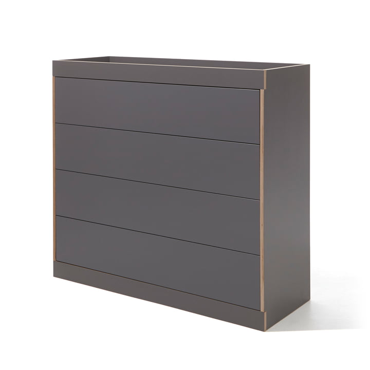 Flai Chest of Drawers with Drawers by Müller Möbelwerkstätten in Anthracite