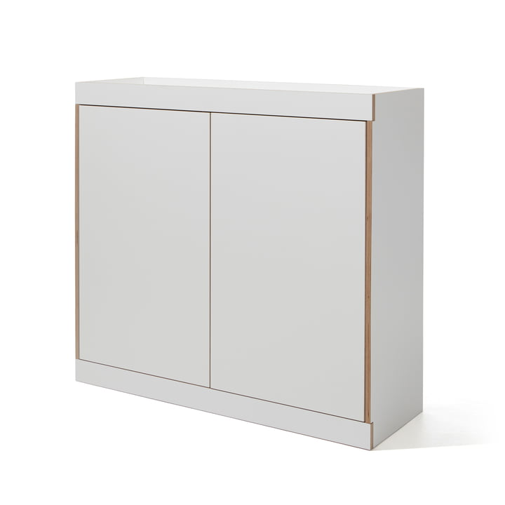 Flai Chest of Drawers with Doors by Müller Möbelwerkstätten in White