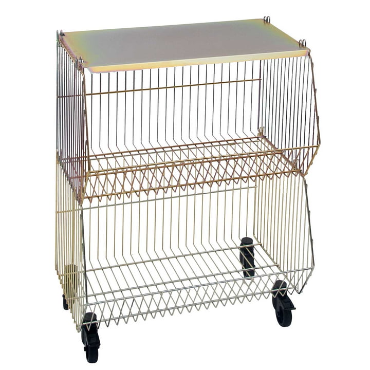 Pension für Produkte - Home Wire Basket set of 2, yellow galvanised