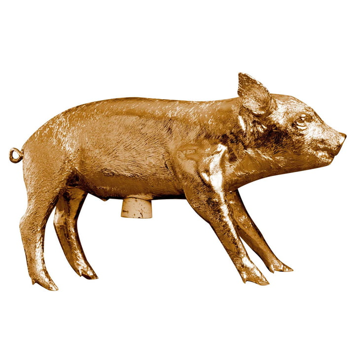 The Pig Bank Piggy bank from Areaware , gold