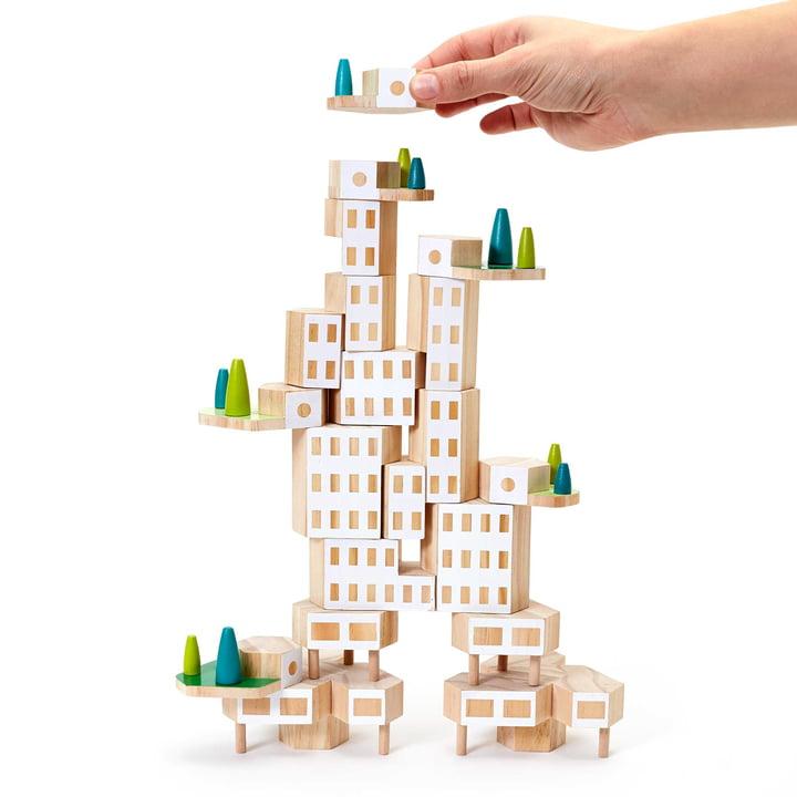 Areaware - Blockitecture, wooden architecture toy, Garden City