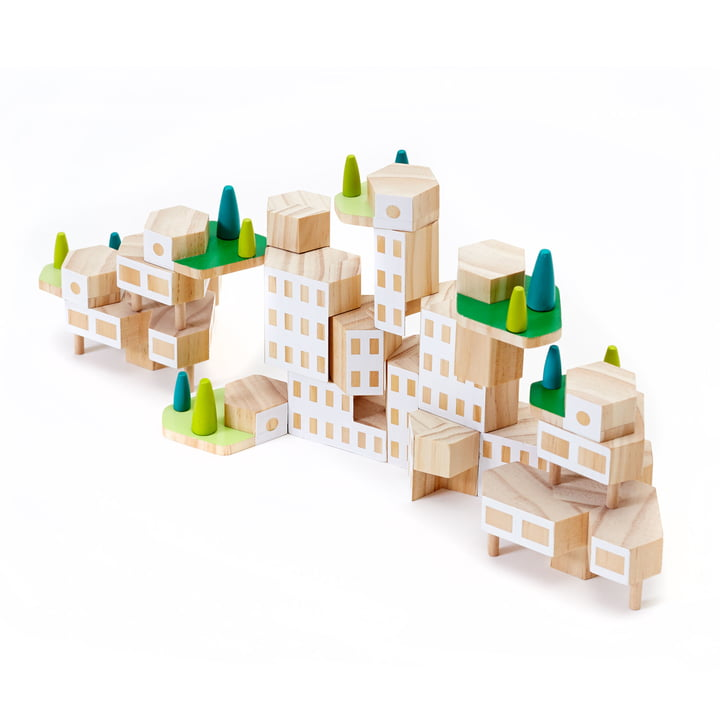 Areaware - Blockitecture, Toy wooden architecture, Garden City