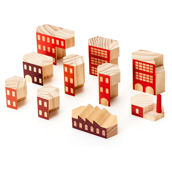 Areaware - Blockitecture, wooden architecture toy, Factory
