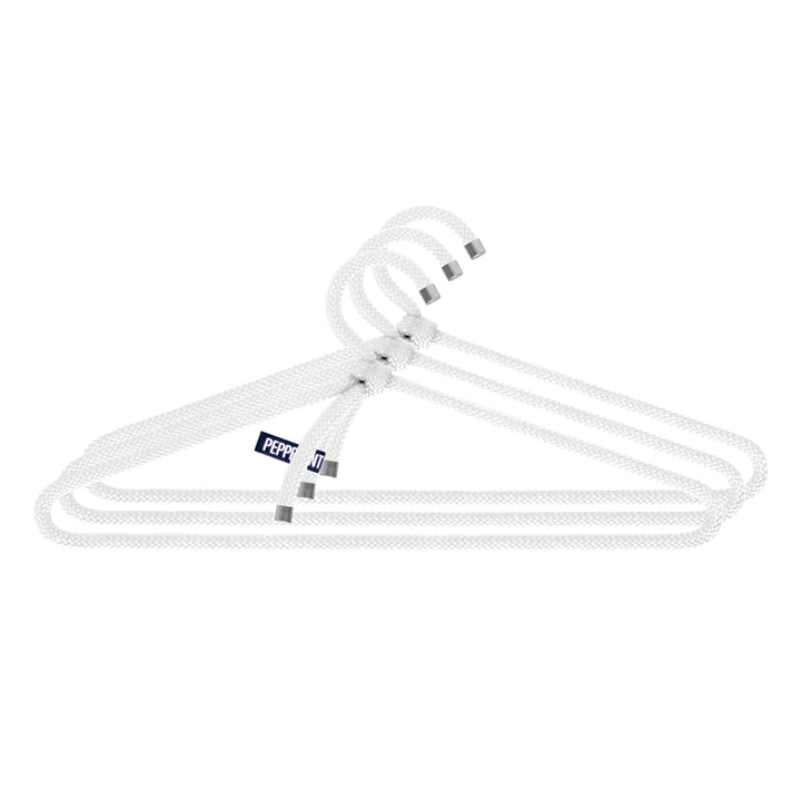 Loop Hanger Set of 3 by Peppermint Products in White