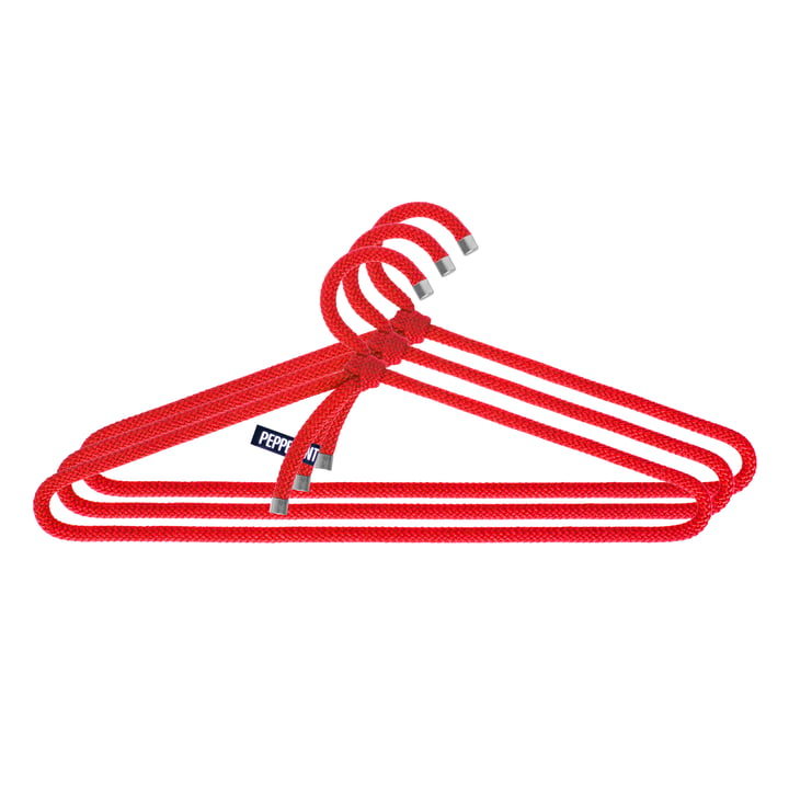 Loop Hanger Set of 3 by Peppermint Products in Red