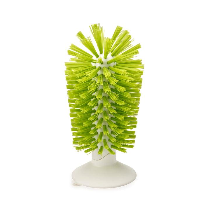 Brush-up suction cup brush by Joseph Joseph in White / Green