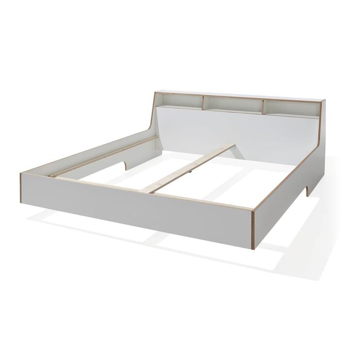 Slope Bed by Müller Möbelwerkstätten in White