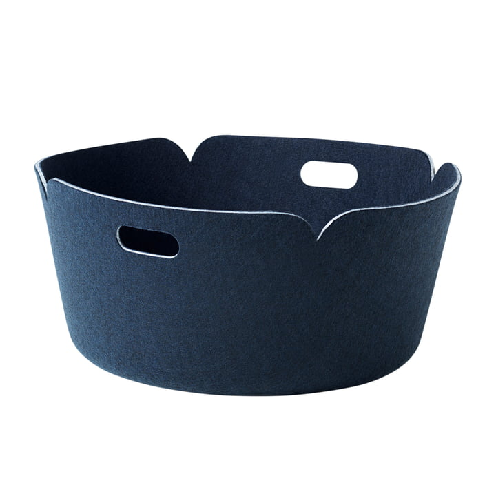 Muuto - Restore round storage basket, midnight blue