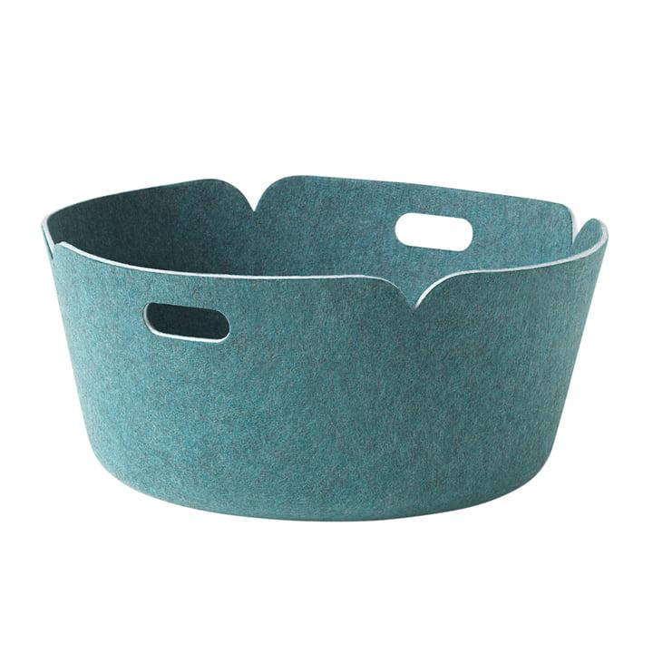 Muuto - Restore round storage basket, aqua
