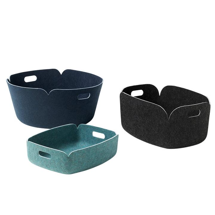 Muuto - Restore round storage basket, tray