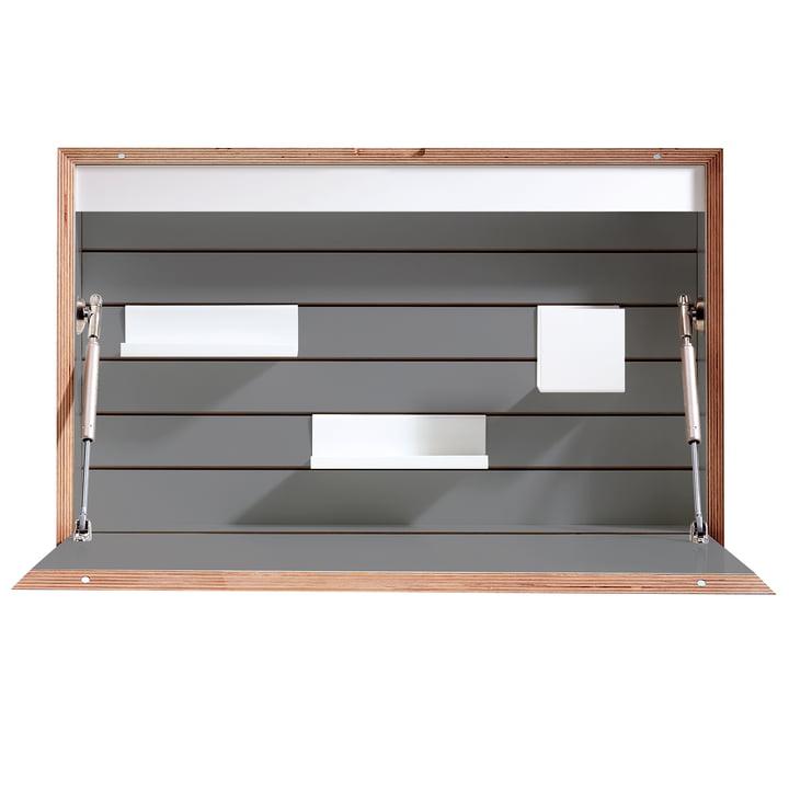 Müller Möbelwerkstätten - Flatbox Bureau, anthracite (RAL 7039) 7 birch
