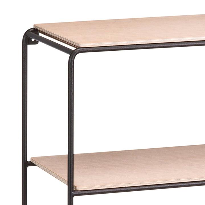 Korridor - AnyWhere 2 x 2 wall shelf, variant B, white / oak