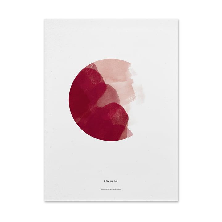 Paper Collective - Red Moon Poster