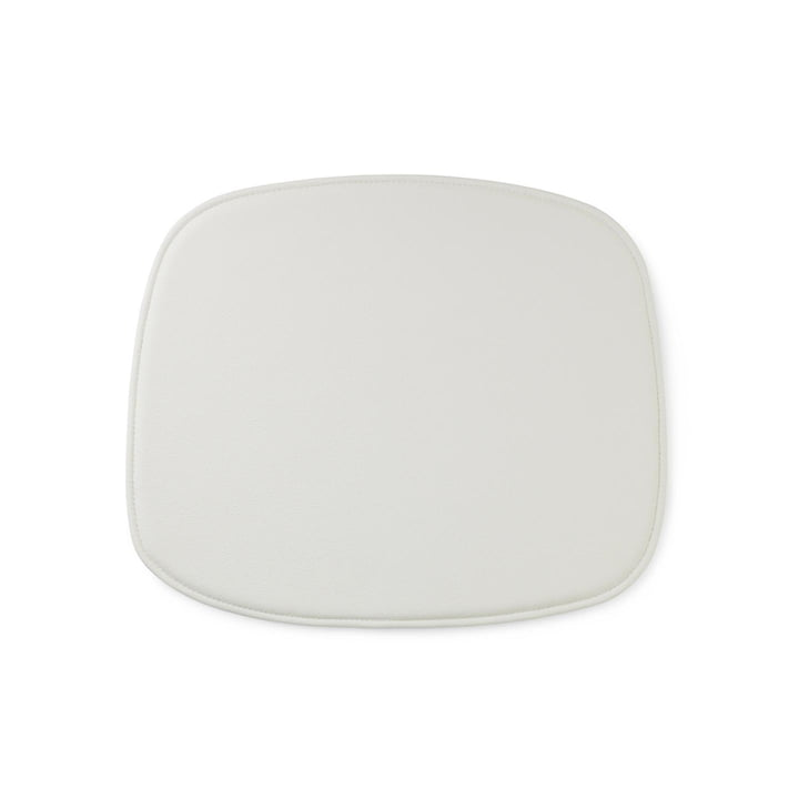 Seat Cushion for Form Chair by Normann Copenhagen in White Leather