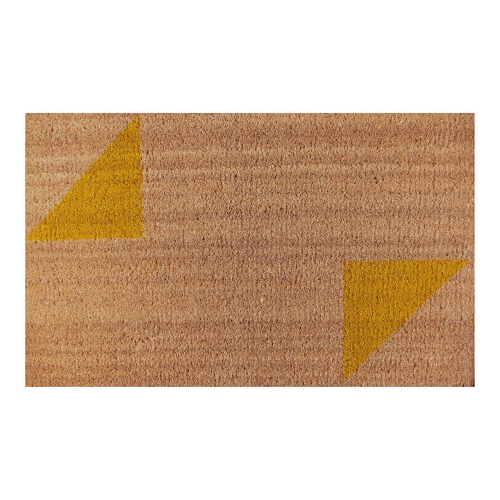 The Ruckstuhl - Doormat with Triangle Pattern in Yellow
