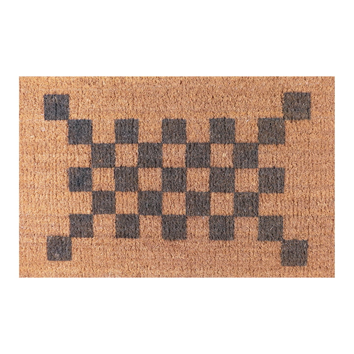 The Ruckstuhl - Doormat with Check Pattern in Grey
