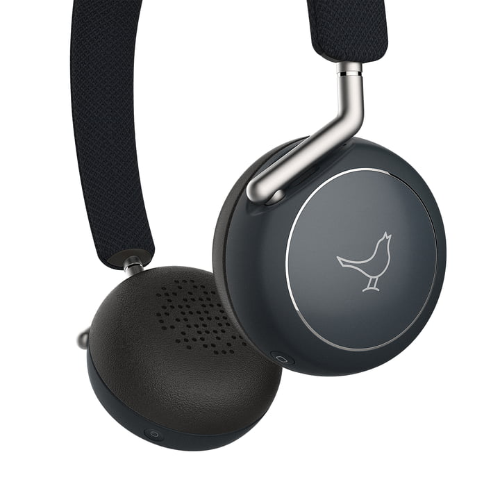 The Libratone - Q Adapt Wireless ANC On-Ear Headphones in Stormy Black