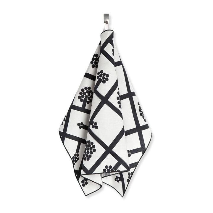 The Marimekko - Spaljé tea towel, black / white