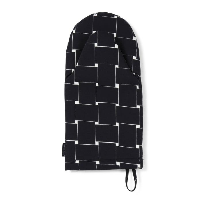 Basket Oven Mitten by Marimekko in black / white