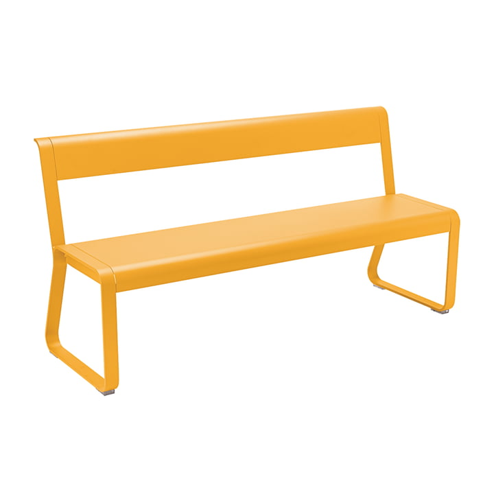 Bellevie Bench with Backrest from Fermob in Honey