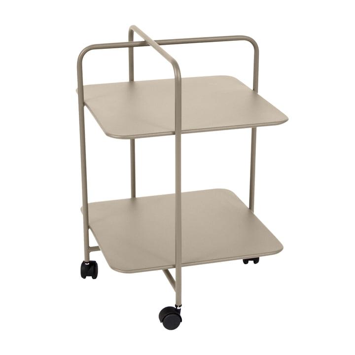 Fermob - Alfred Side Table on wheels, nutmeg