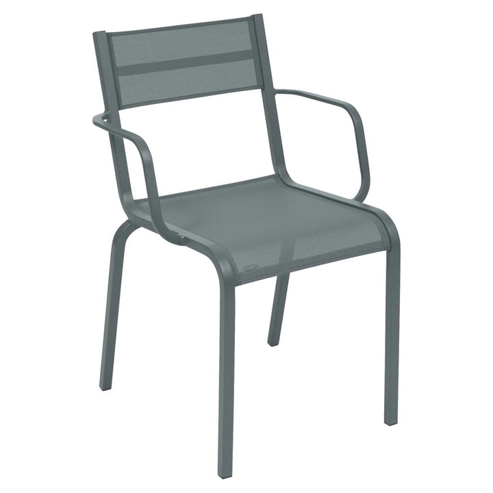 Oléron Armchair by Fermob in Storm Grey
