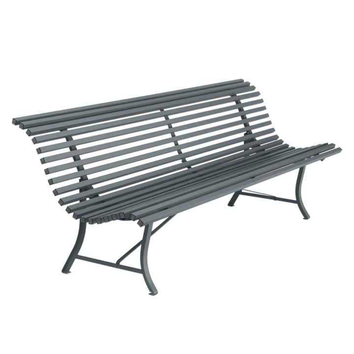 Louisiane Bench 200 cm by Fermob in Stormy Grey