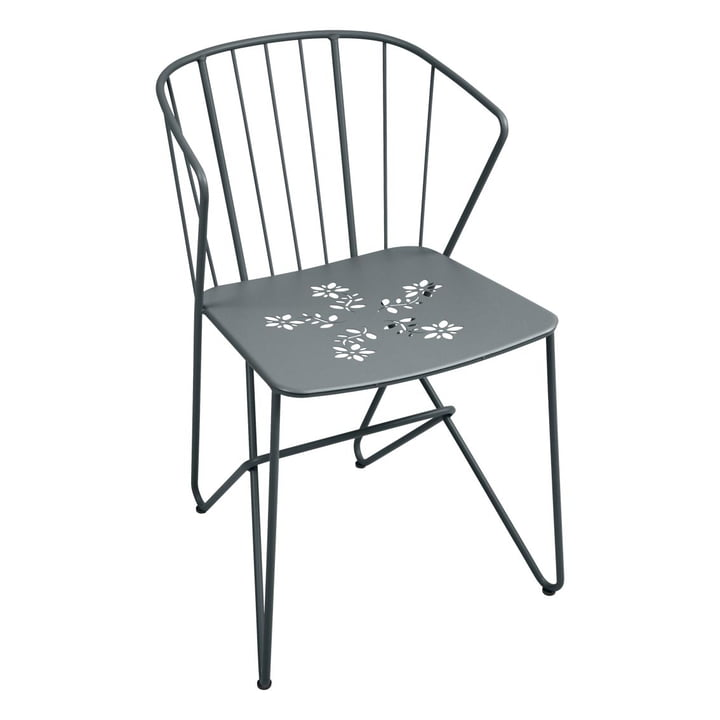 Fermob - Flower Armchair with perforation, storm grey