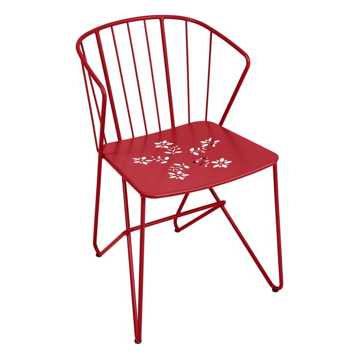 Fermob - Flower Armchair with perforation, chili