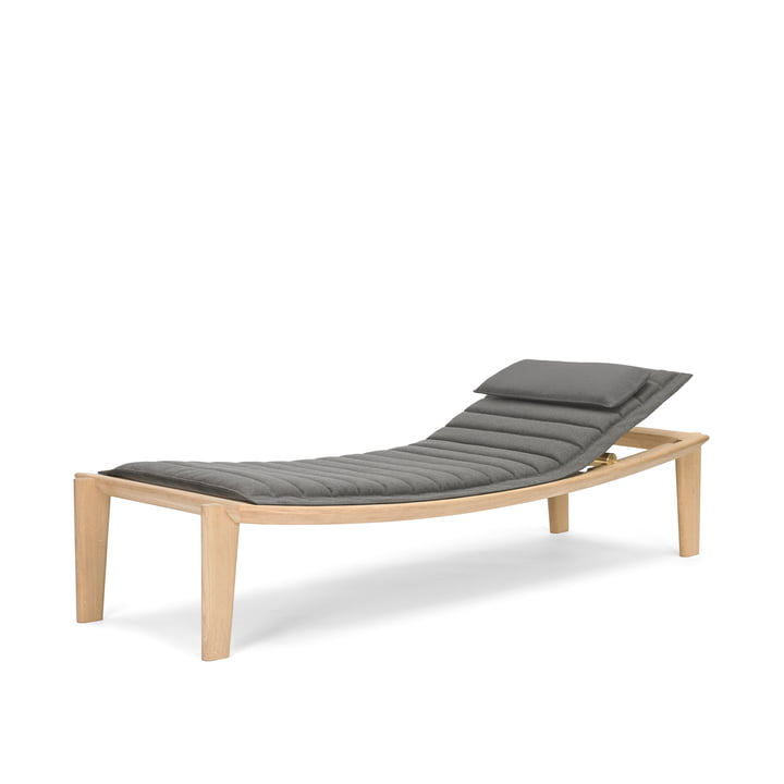 Ulisse Day Bed by ClassiCon made of Oak with Fabric in Grey