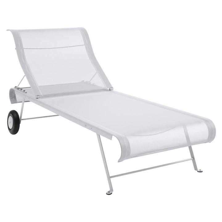 Dune Sun lounger by Fermob in cotton white