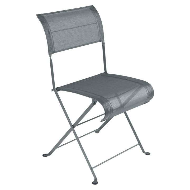Dune Folding chair by Fermob in thunder grey
