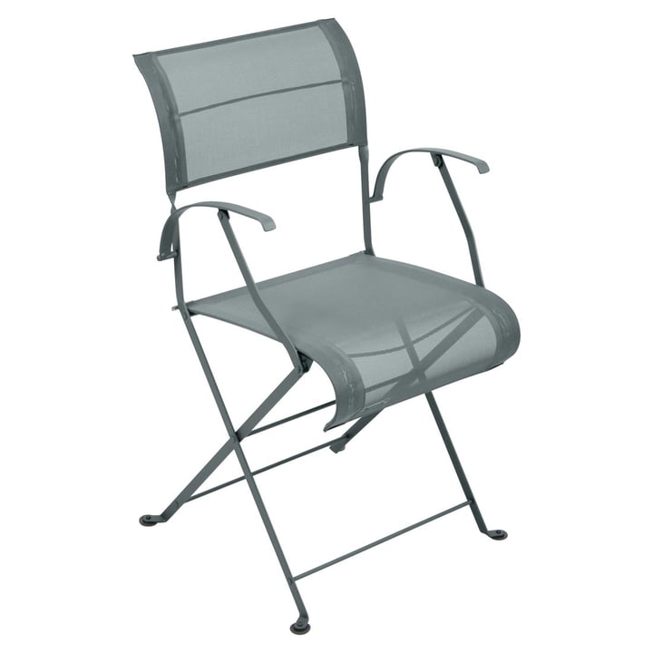 Dune Folding chair from Fermob in thunder grey