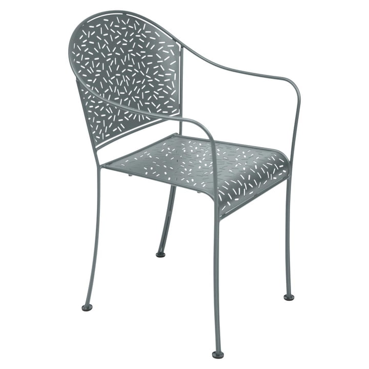 Rendez-Vous Armchair by Fermob in Storm Grey