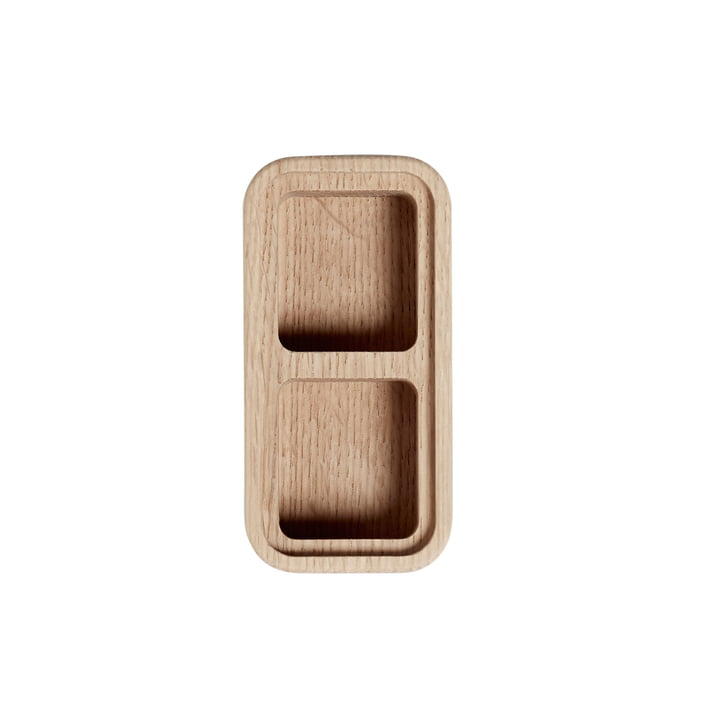 Create Me Box 6 x 12 cm by Andersen Furniture out of Oak with 2 Compartments