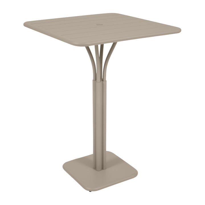 Luxembourg Bar Table 80 x 80 cm by Fermob in Nutmeg