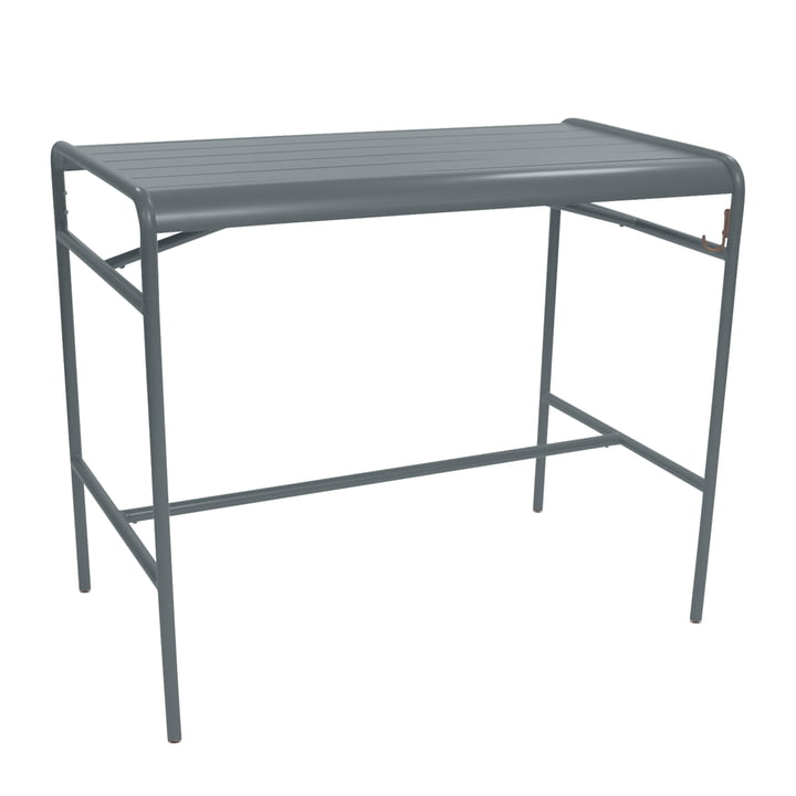 Fermob - Luxembourg Bar Table 73 x 126 cm, stormy gray