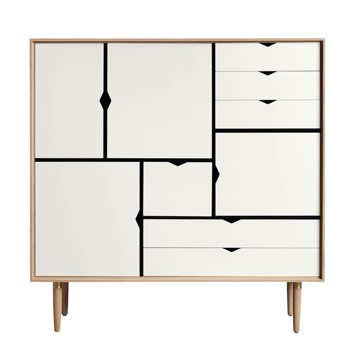 S3 Sideboard by Andersen Furniture in oiled oak / front panels white