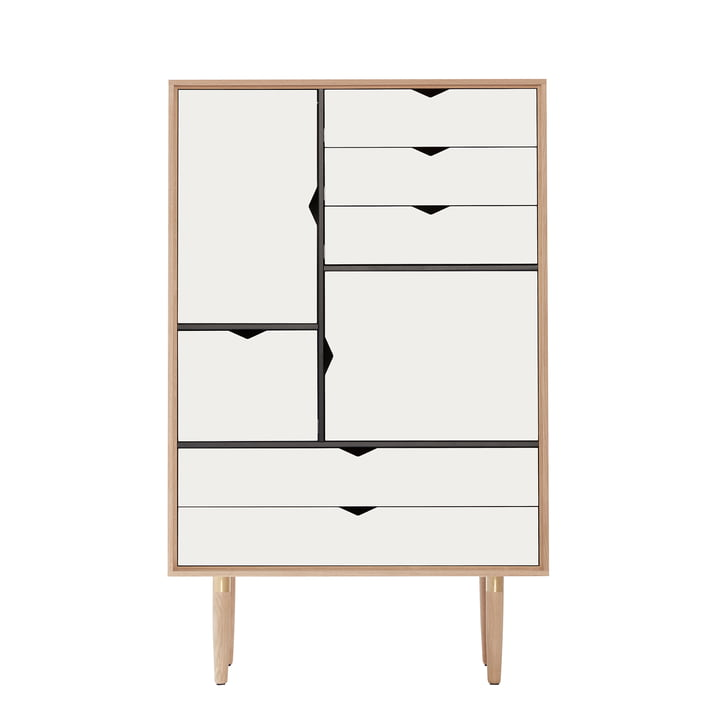 S5 Storage Unit by Andersen Furniture in Soaped Oak / Front Panels White