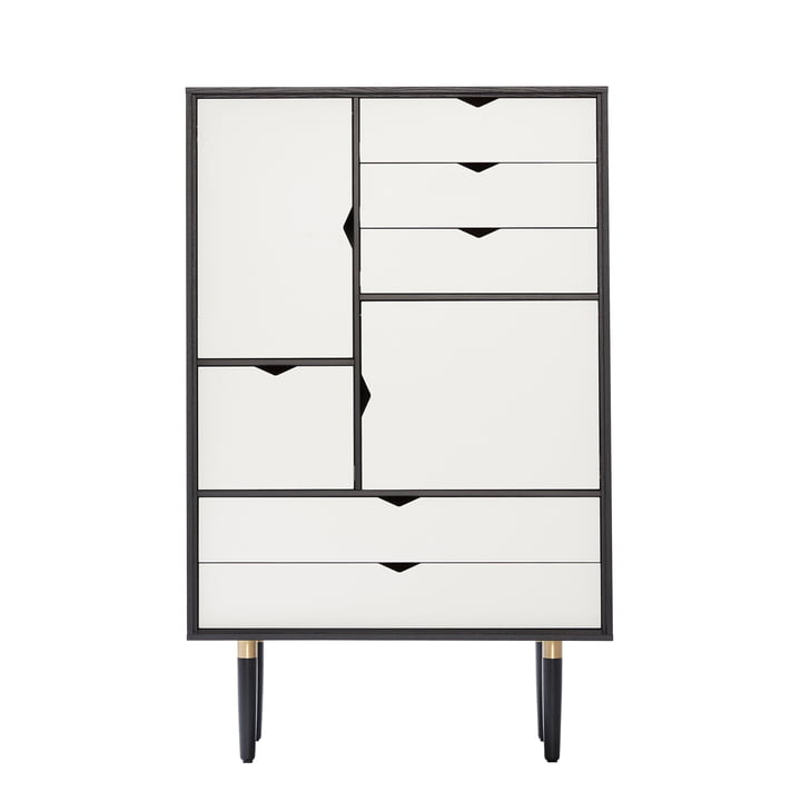 S5 Storage Unit by Andersen Furniture in Oak black lacquered / Doors white