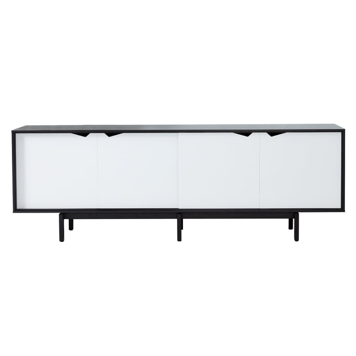 S1 Sideboard by Andersen Furniture in Oak black lacquered / Doors white