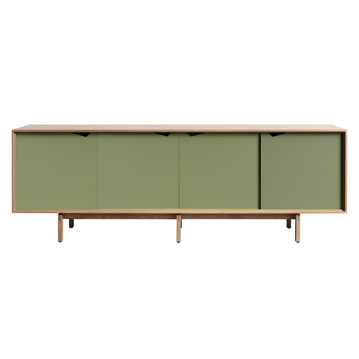 S1 Sideboard by Andersen Furniture in oiled Oak / Doors in Pale Olive