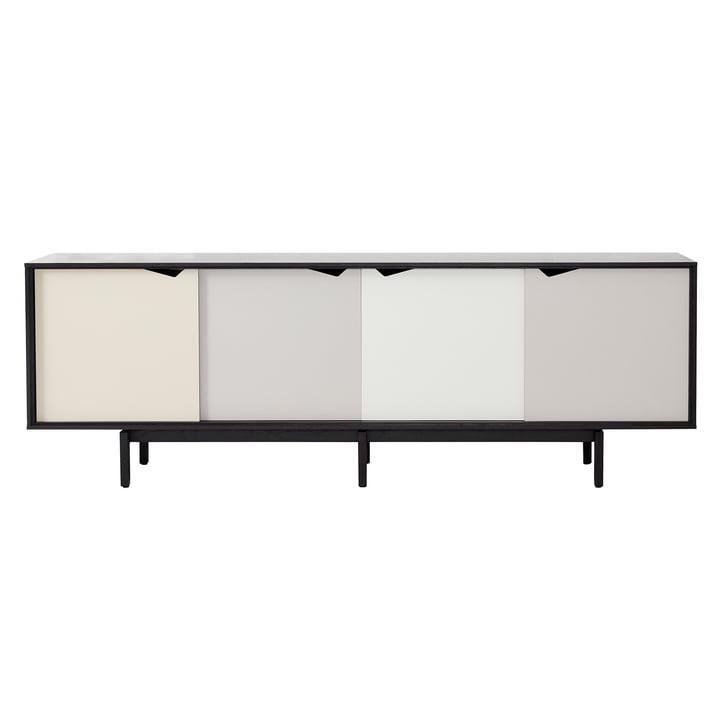 S1 Sideboard by Andersen Furniture in black oak (doors Doeskin, Iron, Silver, Iron)