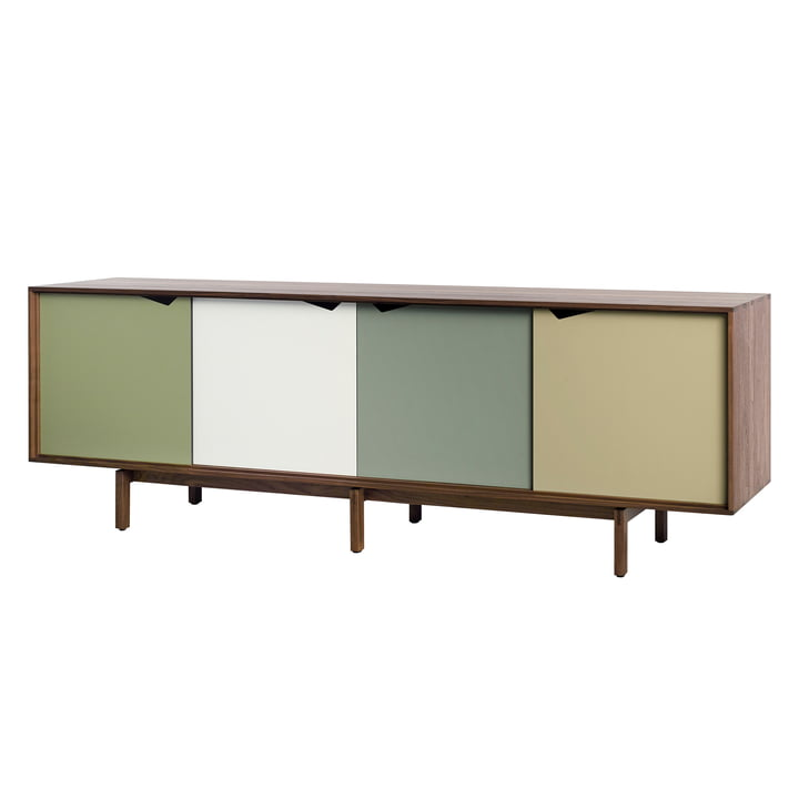 S1 Sideboard by Andersen Furniture in walnut oiled (doors Pale Olive, Alpino, Ocean Grey, Doeskin)